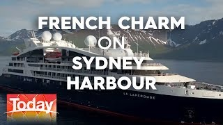 French cruise ship on Sydney Harbour   TODAY Show Australia