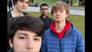 TommyInnit, Wilbur Soot, and Vikkstar123 meeting up with GeorgeNotFound...