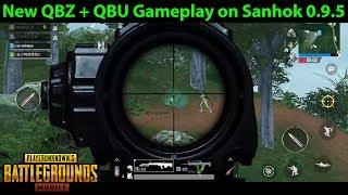 QBZ and QBU Gameplay on Sanhok | PUBG Mobile Lightspeed 0.9.5