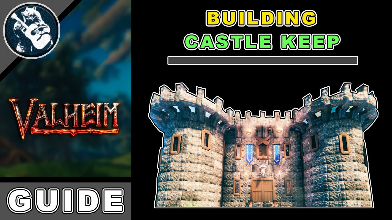 Download Best Large House Design Tutorial   How to Build a Stone Castle in Valheim   Base Building Guide