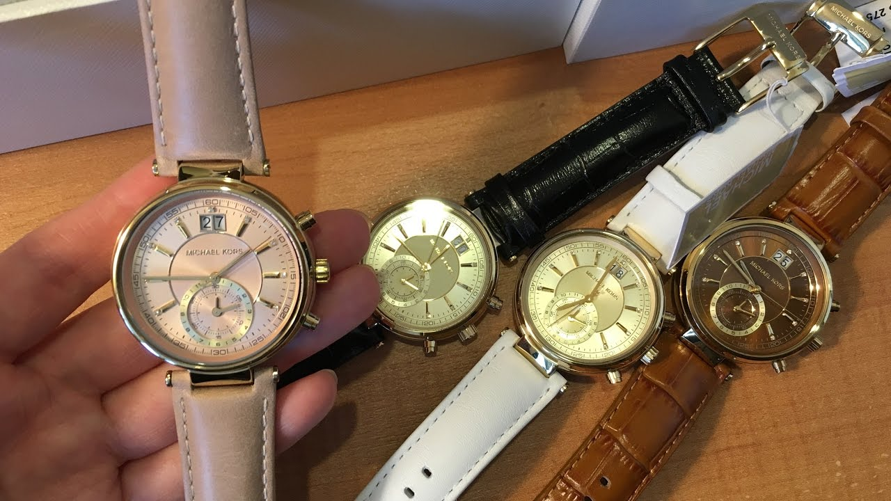 a0d6406723a21 Reviewing Michael kors Sawyer Chronograph watch Collection in many colors