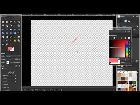 How To Make A STRAIGHT Line In Gimp