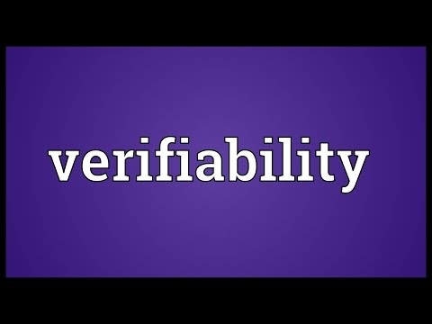 Verifiability Meaning