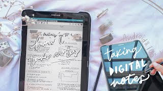 how I take 'aesthetic' notes on my tablet 🌿 *for android and ios* screenshot 4