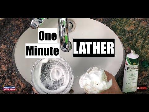 Quick One Minute Shaving Cream Lather!