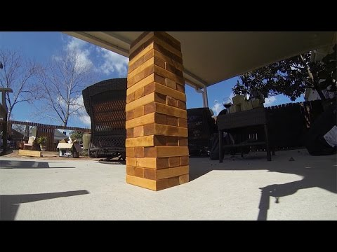 How To Make A Giant Jenga Game.