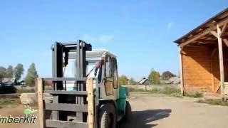 видео домокомплекты бань из бруса