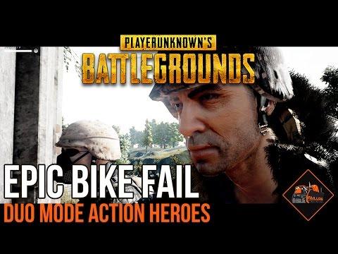 EPIC BIKE FAIL! | PlayerUnknown's Battlegrounds Duo Mode Failure