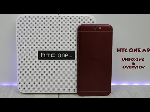 HTC One A9 Garnet Unboxing & Overview - iPhone 6 Comparison