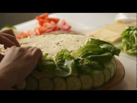 How to decorate a sandwich cake (Smörgåstårta)