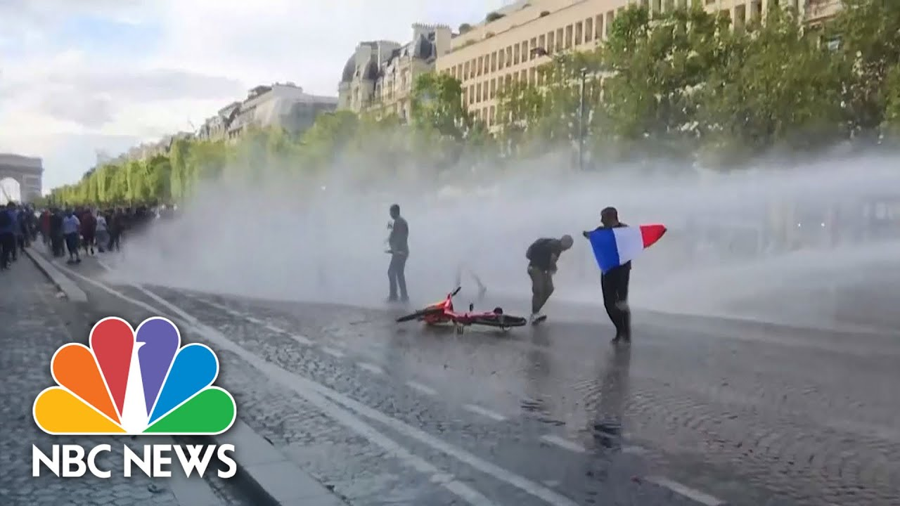Anti-Vaccine Protest In Paris Turns Violent With Clashes Against Police