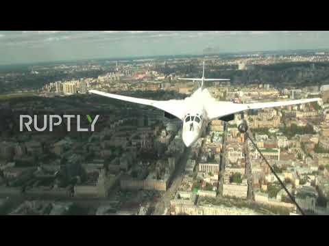 Russia: MiG-31k jets with Kinzhal hypersonic missiles roar through sky at V-Day parade