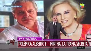 Alberto Fernández le respondió a Mirtha