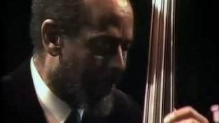 "Modern Jazz Quartet play ""Django"" composed by John Lewis. Milt Jackson: vibes, John Lewis:piano, Percy Heath:bass, Connie Kay:drums. Alexandra Palace ..."
