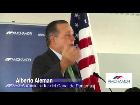 Almuerzo Mensual de la AMCHMDR, Discurso del Ex Administrador del Canal de Panama Alberto Aleman,  2