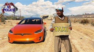 Being Tesla X UBER Driver Who drives UNDERWATER - GTA 5  RP (MVP) 39