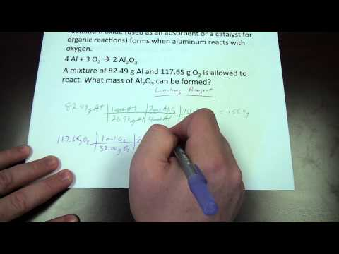 CHEM 111 Examples   Stoichiometry & Limiting Reagent