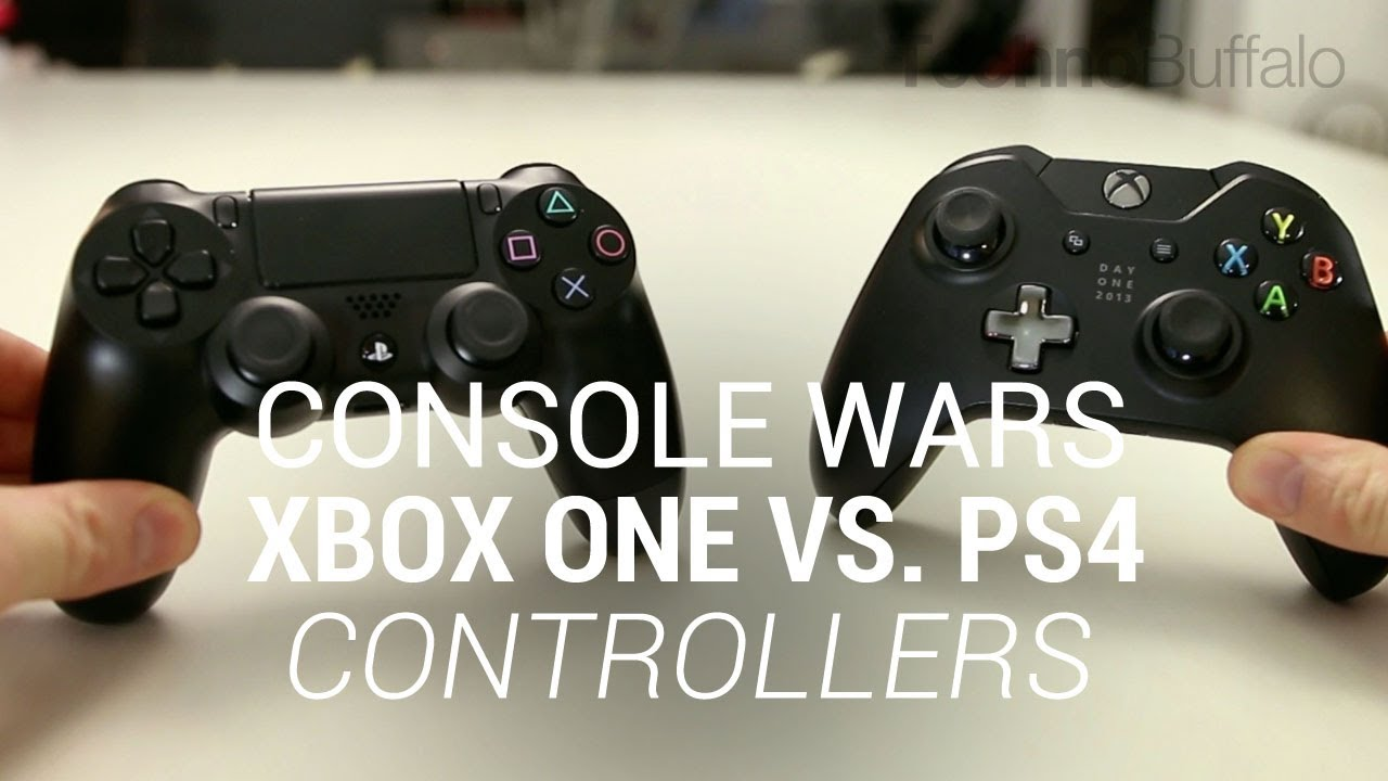 Console Wars Xbox One Vs Playstation 4 Controllers