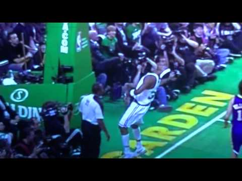 Paul Pierce Punches Referee in the face + Slow Motion + HD