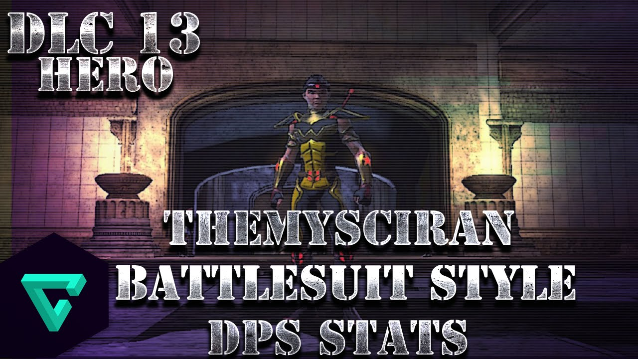 dcuo themysciran battlesuit style dps stats dlc 13 youtube
