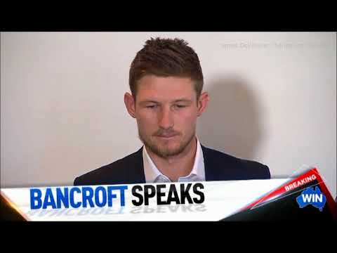 Cricketer Cameron Bancroft admits