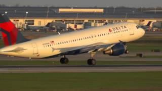 Bumpy Jump Landing - Delta A320 at Detroit Airport