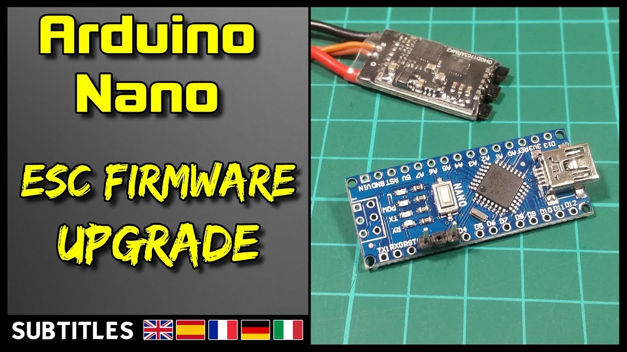 Blheli esc firmware update arduino nano youtube.