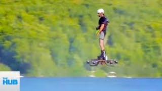 Man Flies On Real Life Hoverboard
