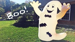 Setting Up an Inflatable Ghost Yard Decoration