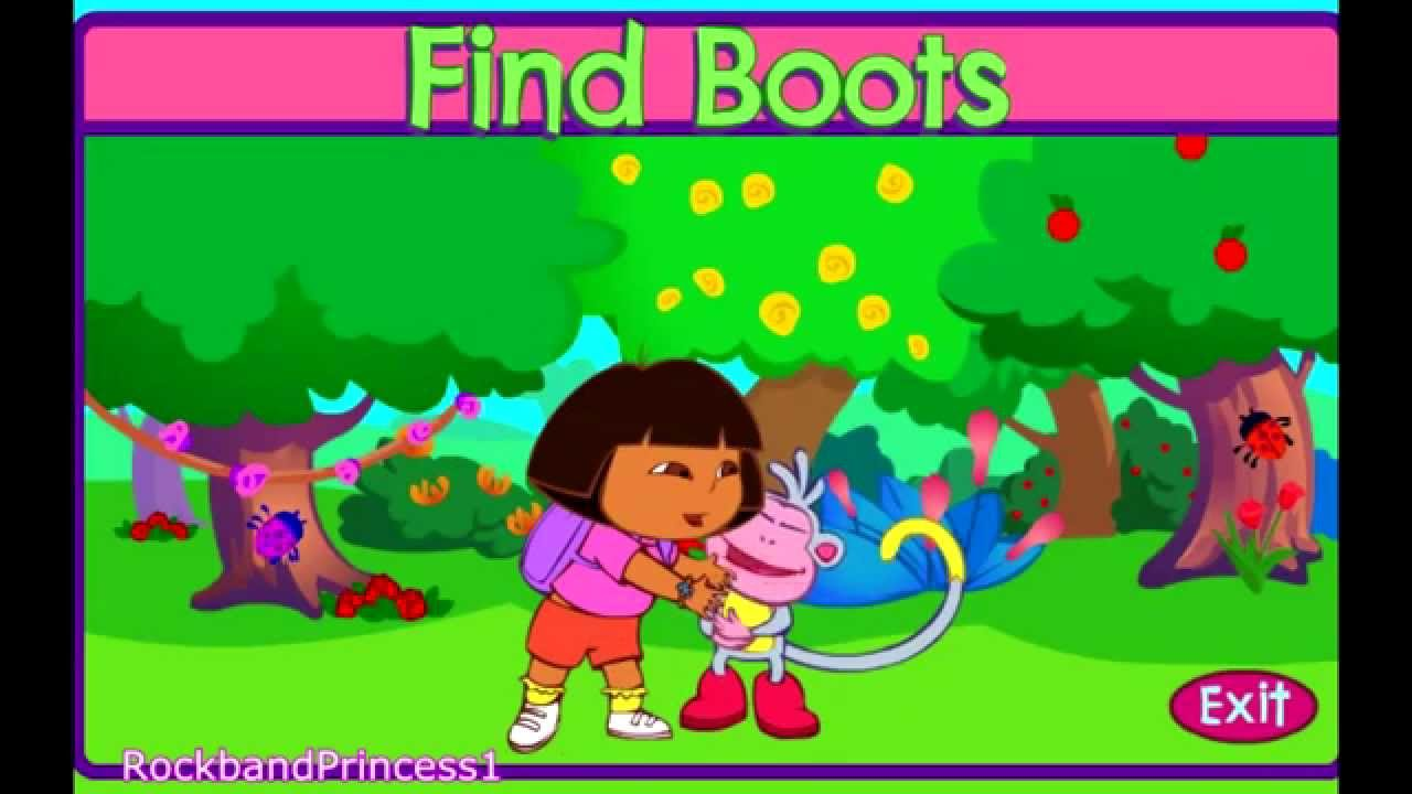 Dora The Explorer Find Boots Play Kids Games