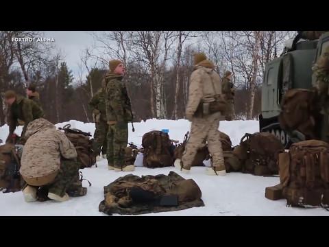 British Royal Marines Commandos train US Marines to survive in freezing water