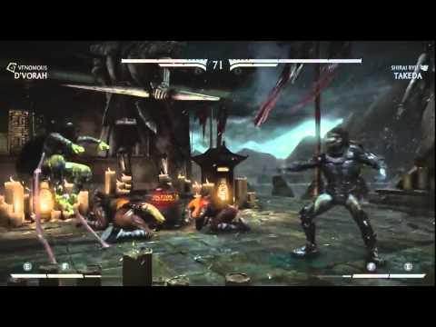 Mortal Kombat X Training Session (Royal Strom Kitana, Venomous and Swarm Queen D'Vorah) vs General R