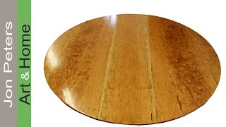 How To Make A Round Table Top Out Of Solid Cherry Wood By Jon Peters