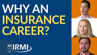 Zapętlaj Why an Insurance Career? | IRMI