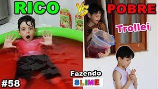 RICO VS POBRE FAZENDO AMOEBA / SLIME #58
