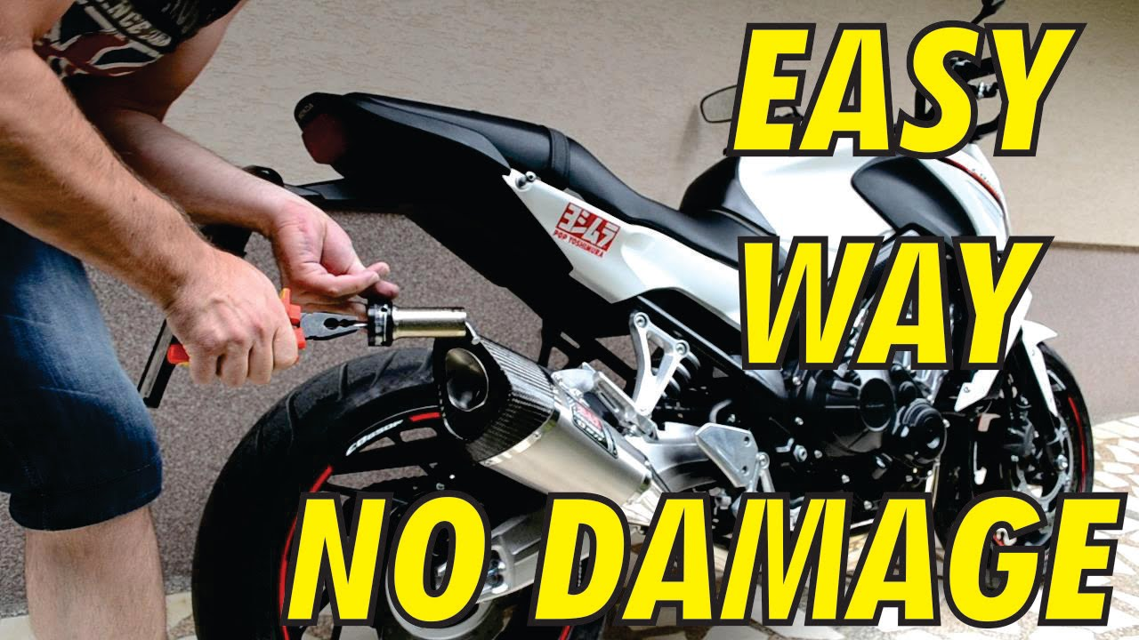 Diy how to remove db killer baffle silencer on yoshimura r11 exhaust