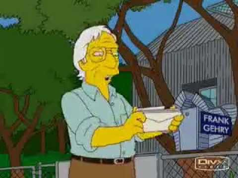 Frank Gehry - Los Simpsons - InformeConstrucción.com