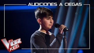 Marcos Díaz - Stone cold | Blind Auditions | The Voice Kids Antena 3 2019
