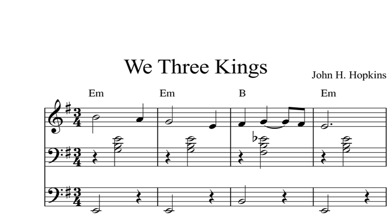 We Three Kings: CHRISTMAS SHEET MUSIC Piano Organ & Keyboard Book 2 - YouTube
