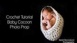 CROCHET TUTORIAL - BABY COCOON PHOTO PROP