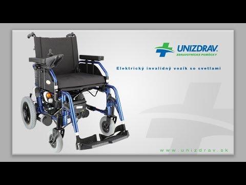 Elektrický invalidný vozík so svetlami - VIDEOMANUÁL
