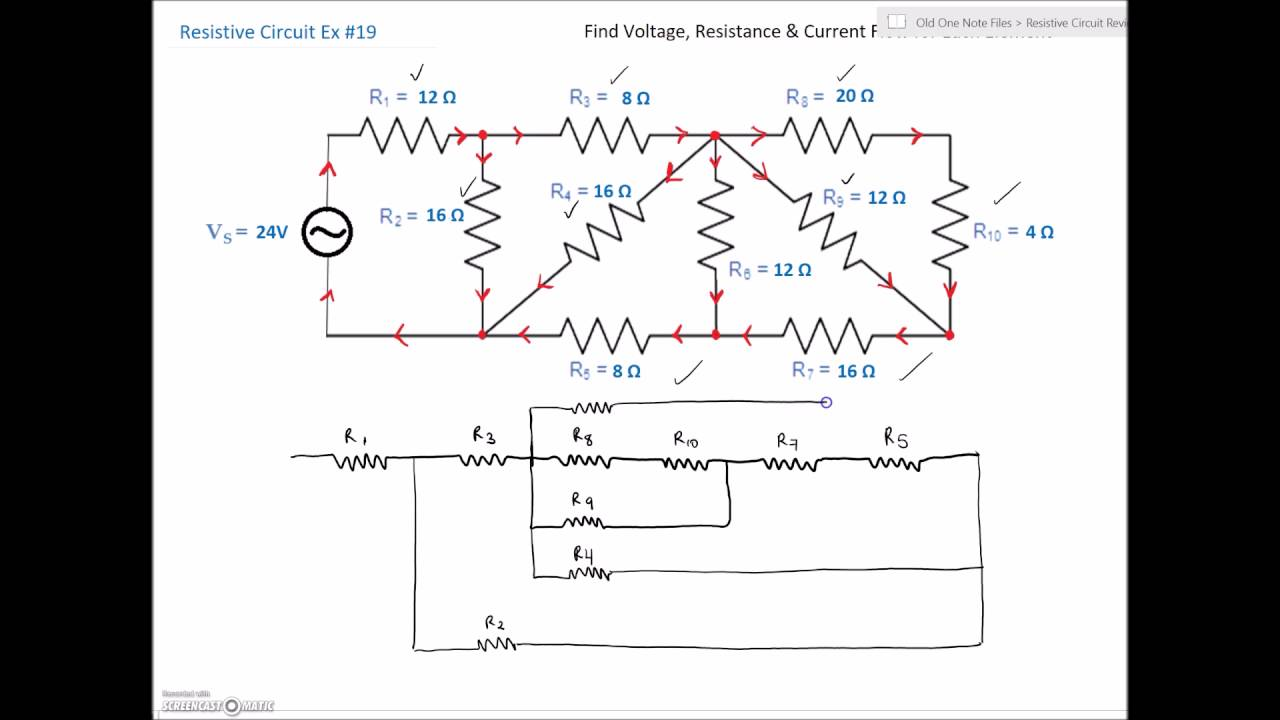small resolution of series parallel combination circuit 19