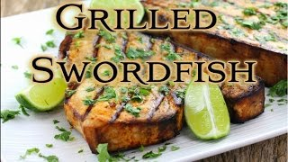 Grilled Swordfish With A Coconut Rum Glaze!!! Tasty Tuesday 21