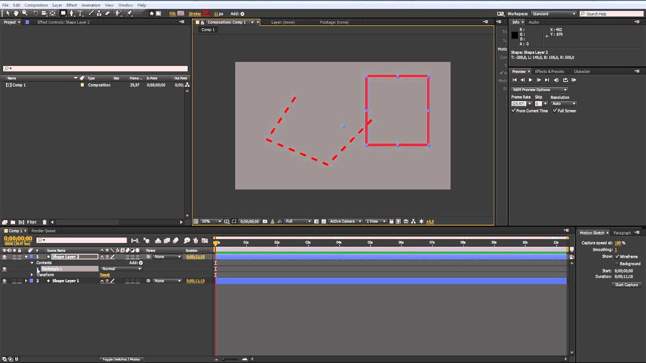 How To Create A Simple Dotted Line In Adobe After Effects