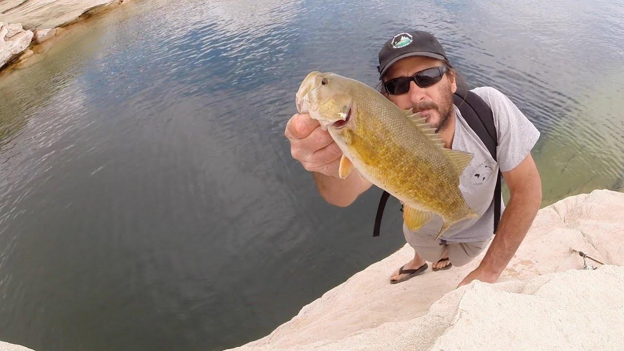 Lake powell shore fishing techniques youtube for Lake powell fishing