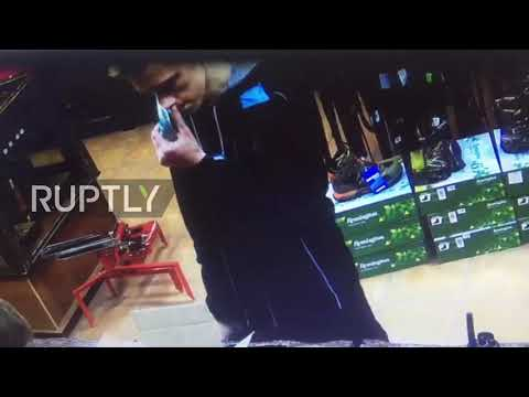 Russia: CCTV captures Kerch attack suspect buying bullets days before tragedy *EXCLUSIVE*