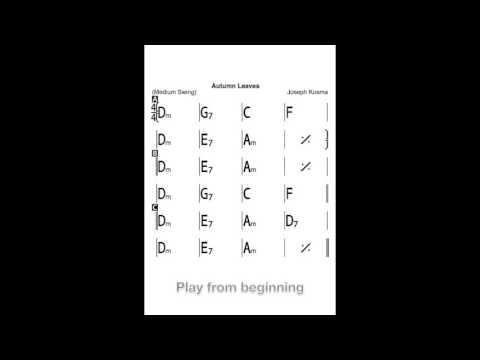 Ukulele Play-Along: Autumn Leaves (Basic Chords) - YouTube