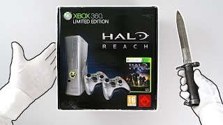 "Xbox 360 ""Halo Reach"" Limited Edition Console Unboxing + Legendary Edition"