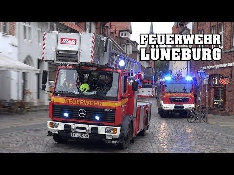 [ALARMIERUNG Gong & Durchsage!] - Feuerwehr LÜNEBURG   Einsatzfahrten