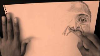 Martin Luther King Portrait drawing || speed up video